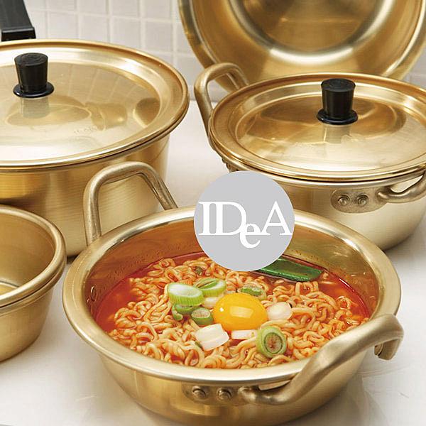 IDEA韓國泡麵鍋 黃鋁鍋   鍋具 瓦斯爐  廚房用品 16cm  韓式料理 拉麵 部隊鍋