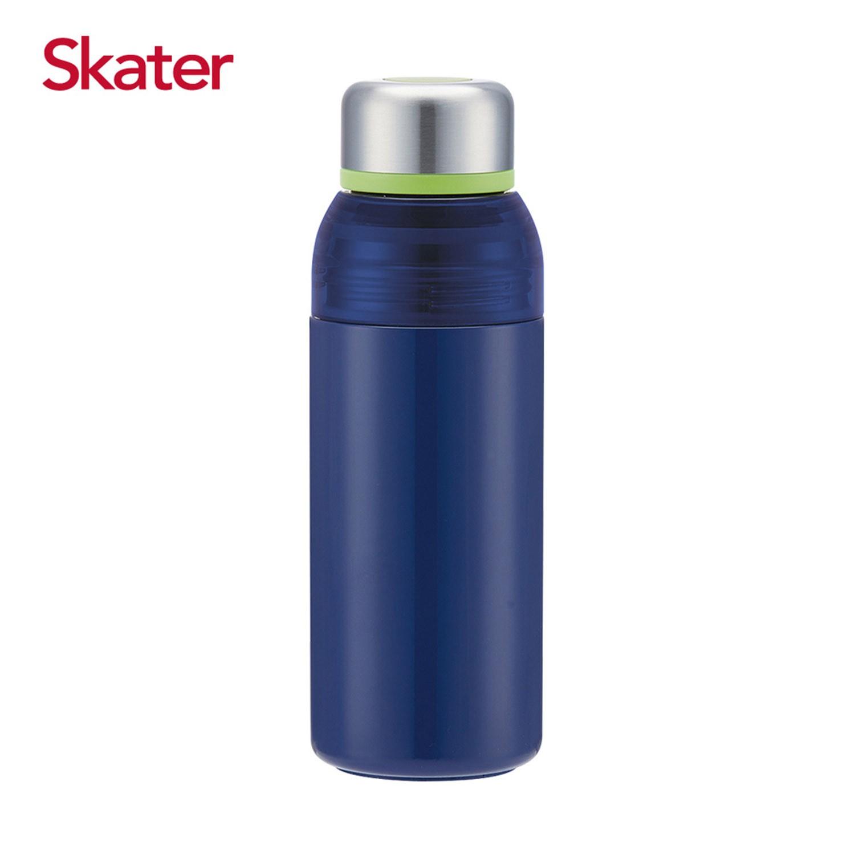 日本 SKATER - 雙開口不鏽鋼真空瓶(400ml)-茄子