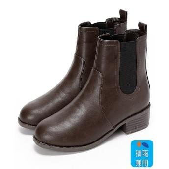 ヴェリココ 【19.5〜27cm】晴雨兼用ブーツ(4.0cmヒール)(ブラウン)