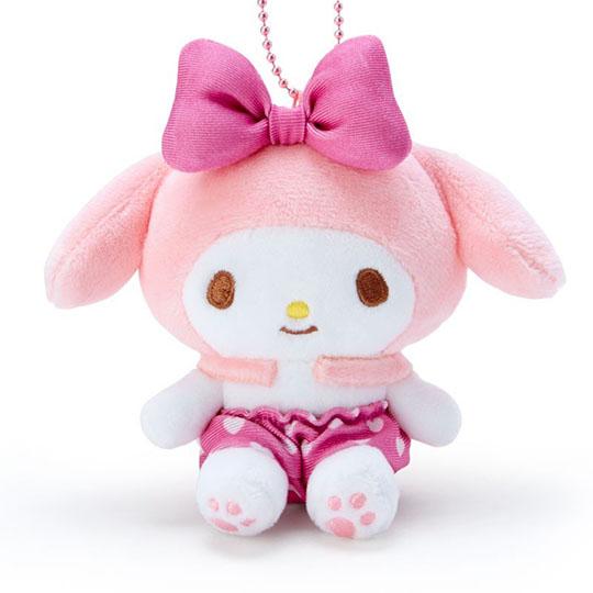 小禮堂 美樂蒂 絨毛玩偶娃娃吊飾《粉褲.愛心印花》掛飾.鑰匙圈