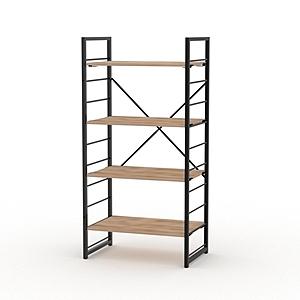 組 - 特力屋萊特 組合式層架 黑框/淺木紋色 60x40x128cm