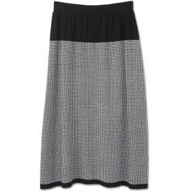 [マルイ] ニットジャカードチェックロング スカート/マリークヮント(MARY QUANT)