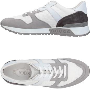 《セール開催中》TOD'S メンズ スニーカー&テニスシューズ(ローカット) グレー 5 革 / 紡績繊維