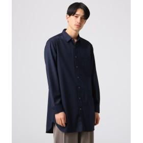 tk.TAKEO KIKUCHI(ティーケー タケオ キクチ) ◆ヘリンボーンストライプシャツ