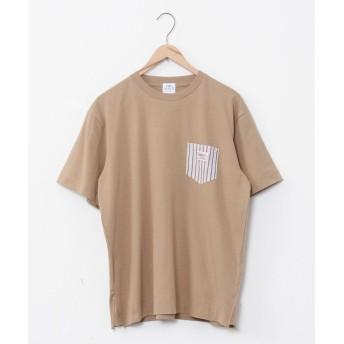 コーエン SMITH'S別注ポケットTシャツ(20SS)# メンズ BEIGE MEDIUM 【coen】