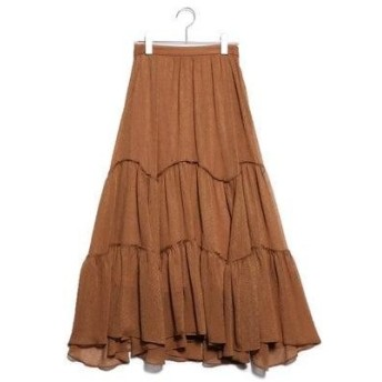 リリーブラウン Lily Brown ライトボリュームスカート (キャメル)
