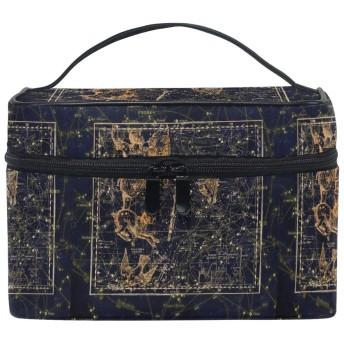 スタースペースアート化粧品袋オーガナイザージッパー化粧バッグポーチトイレタリーケースガールレディース