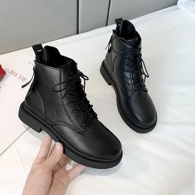 FOFU-(任選2雙788)皮靴帥氣馬丁靴英倫復古街頭加絨短靴【02S11768】