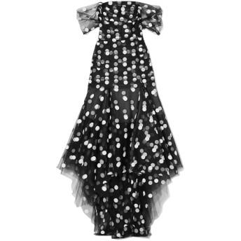 《セール開催中》OSCAR DE LA RENTA レディース 7分丈ワンピース・ドレス ブラック 0 ナイロン 68% / レーヨン 32%