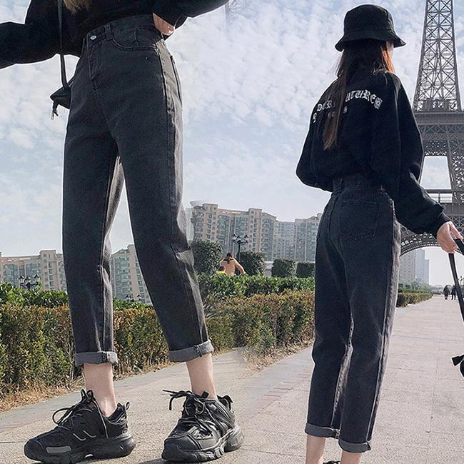 FOFU-牛仔褲百搭時尚高腰寬鬆港味復古牛仔褲【08G-G1321】
