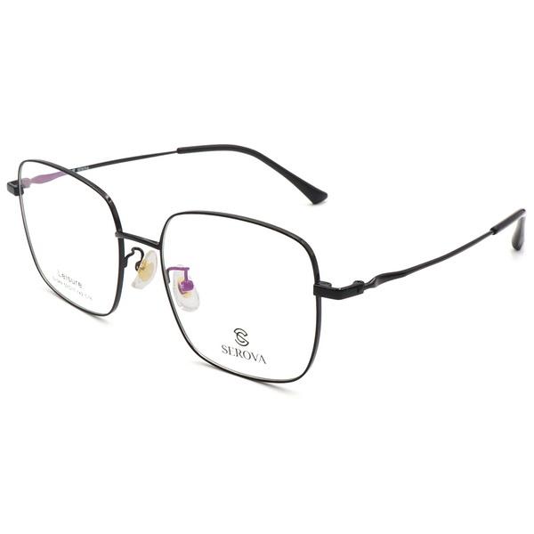 SEROVA 施洛華 眼鏡 個性大方框款 黑 SL549 C16