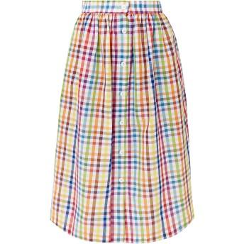 《セール開催中》MDS STRIPES レディース 7分丈スカート ホワイト 0 コットン 100%