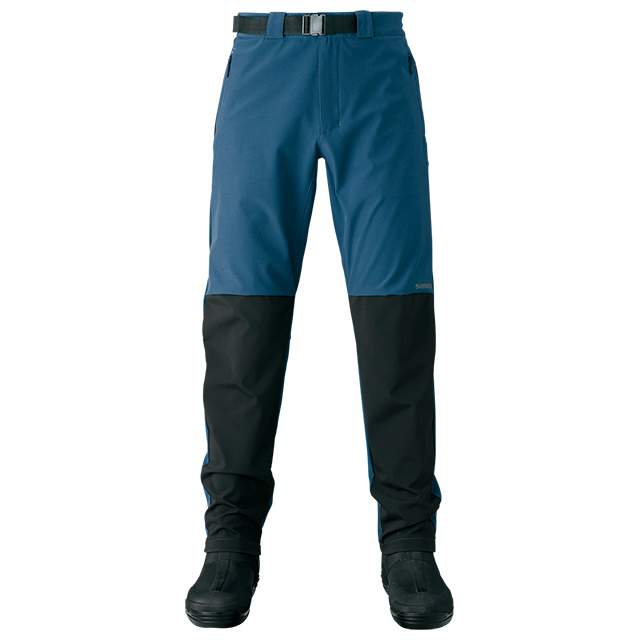 【SHIMANO】防風彈性長褲 藍 WP-045S