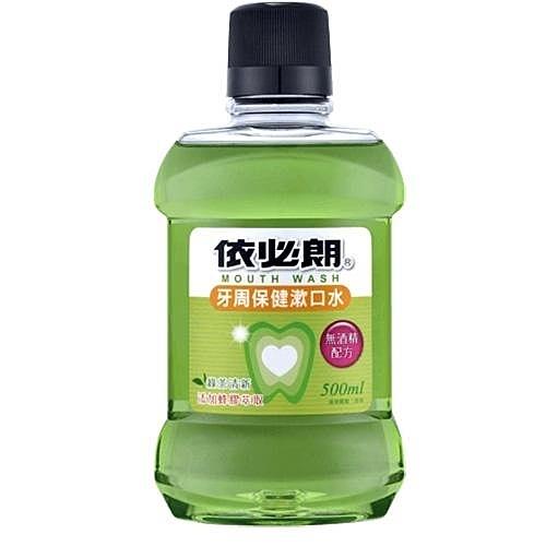 依必朗 牙周保健漱口水 綠茶清新 無酒精配方 500ml+175ml
