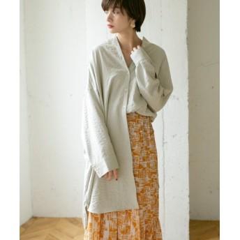 ケービーエフ アシンメトリーサイズシャツ レディース ICEGRAY one 【KBF】