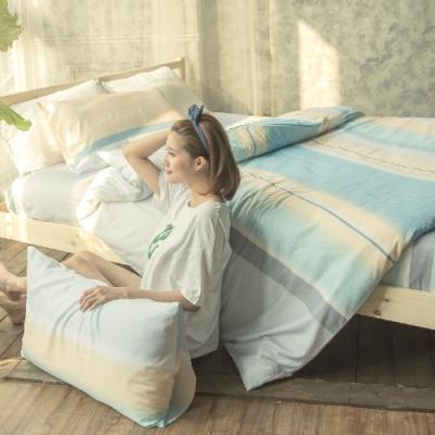 BUHO 舒涼TENCEL天絲雙人加大四件式兩用被床包組 時光若刻