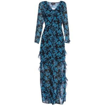 《セール開催中》SALONI レディース ロングワンピース&ドレス ブルー 6 シルク 100%