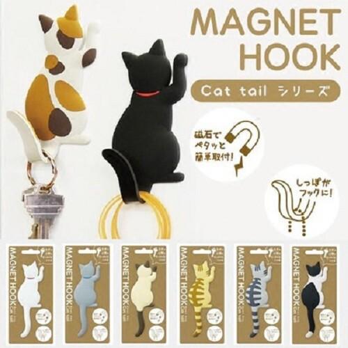 買一波貓咪磁鐵掛鉤冰箱貼 鑰匙收納掛勾h80811