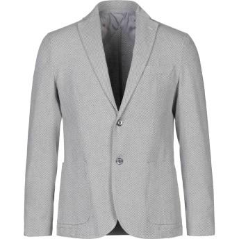 《セール開催中》HERMITAGE メンズ テーラードジャケット グレー 48 コットン 75% / リネン 10% / ポリエステル 10% / 指定外繊維 5%