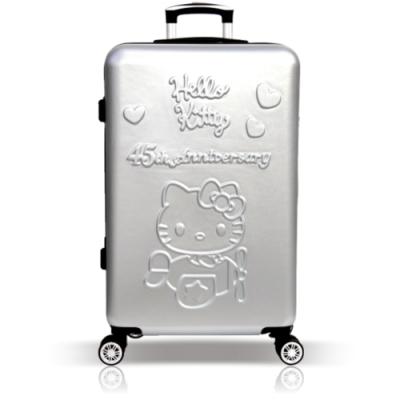 YC Eason 45週年Hello Kitty26吋行李箱 銀色