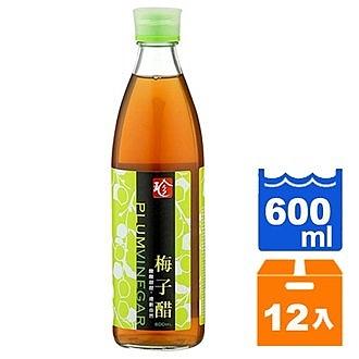百家珍 梅子醋 600ml (12入)/箱【康鄰超市】