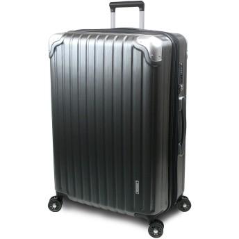 【SUCCESS サクセス】 スーツケース 3サイズ 【 大型 76cm / ジャスト型 70cm / 中型 65cm 】 超軽量 TSAロック搭載 【 プロデンス コーナーパットモデル】 (大型 Lサイズ 76cm, ガンメタヘアライン)