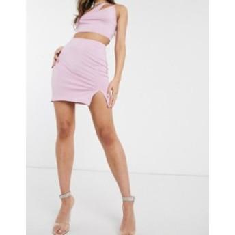 エイソス レディース スカート ボトムス ASOS DESIGN mini skirt with side split two-piece Lavender