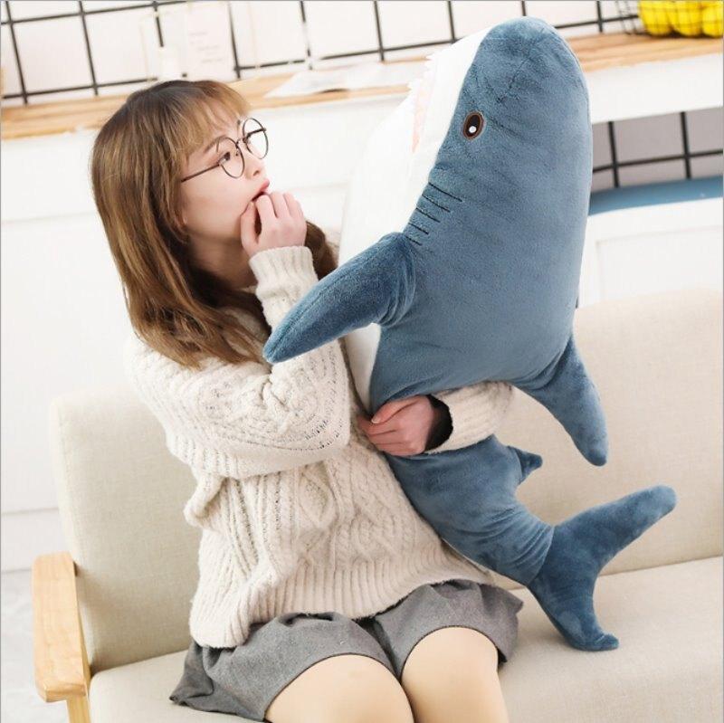 網紅鯊魚 抱枕熱賣抱枕 鯊魚抱枕 100公分大鯊魚抱枕 毛絨 玩具 生日禮物 交換禮物【HL68】