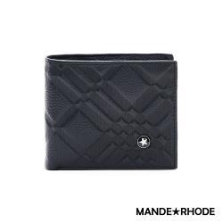MANDE RHODE - 巴弗洛 - 質感真皮訂製斜紋短夾 - 86347-B