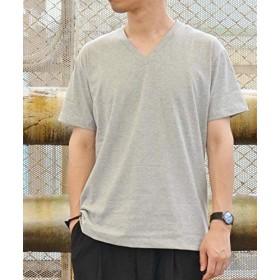 (ティーケー タケオキクチ) tk.TAKEO KIKUCHI 汗染み防止抗菌防臭 VネックTシャツ 17036302 01(S) グレー(712)
