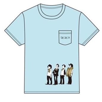 ウルフルズ/『人生』イラスト 胸ポケット Tシャツ L[4997184979665]