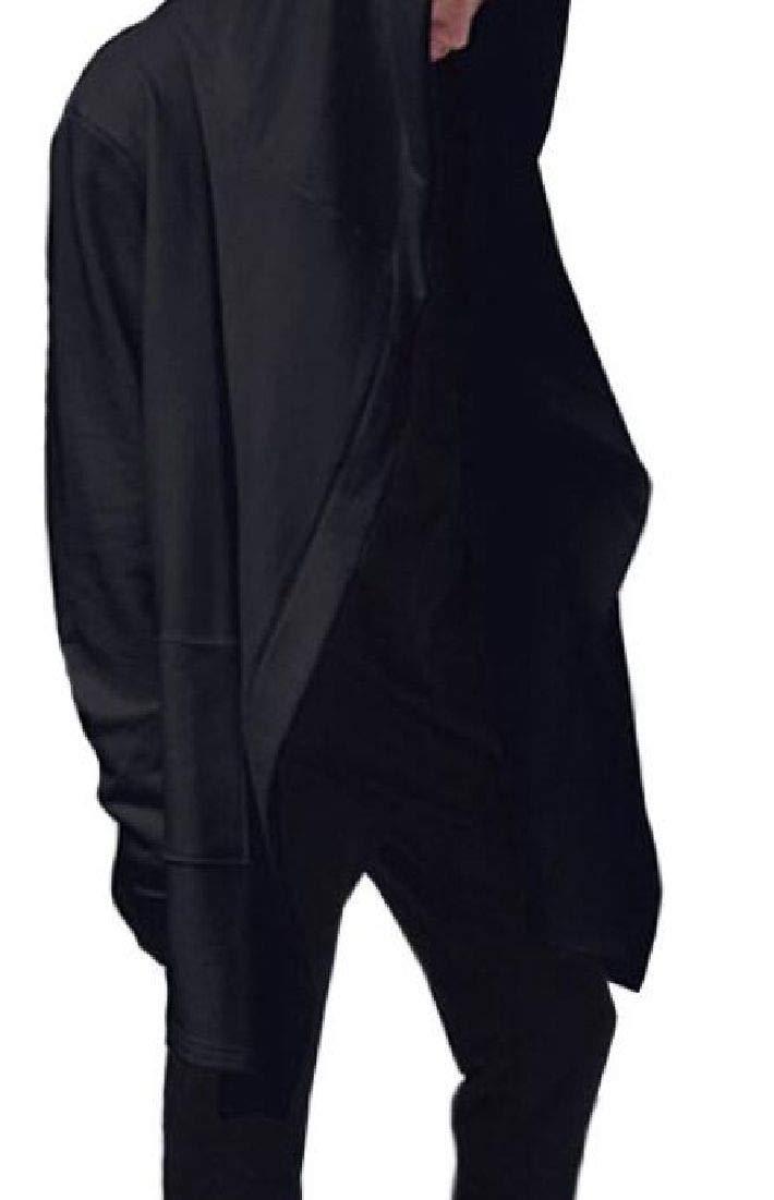 Kankanluck Mens Sweatshirts Color Block Zip-Front Hooded Long-Sleeve Jacket Coat