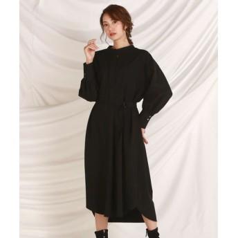 LAUTREAMONT/ロートレアモン 女性らしいラインのプルオーバーシャツワンピース ブラック 9号
