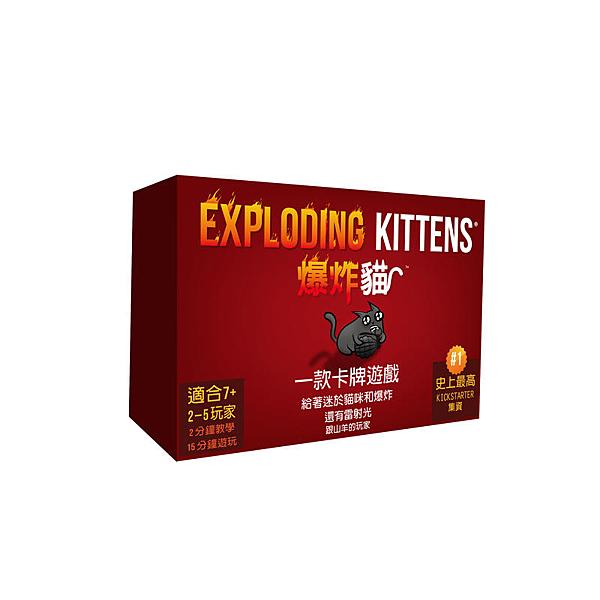 『高雄龐奇桌遊』 爆炸貓 Exploding Kittens 繁體中文版 正版桌上遊戲專賣店
