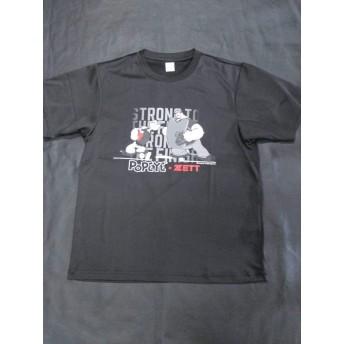 無料◆限定Tシャツ◆ブラック◆L◆ポパイコラボ◆ゼット◆イラストTシャツ◆現品限り