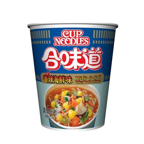 日清合味道香辣海鮮味杯麵71G【愛買】
