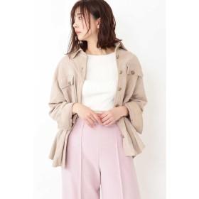 ジルスチュアート ◆モリースエードシャツジャケット レディース BEIGE FR 【JILLSTUART】