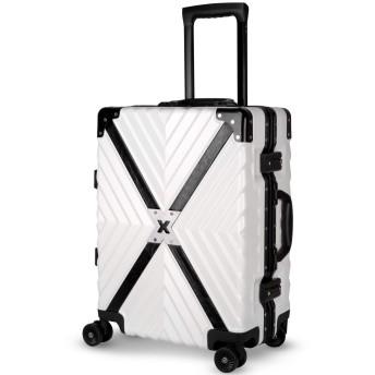 TABITORA(タビトラ) スーツケース キャリーケース アルミフレーム TSAロック 8輪 ダブルキャスター 静音 大容量 レトロ 超軽量 ビジネス出張 旅行 (ホワイト, M サイズ 中型 59L 3~5泊)