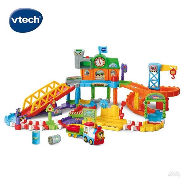 Vtech 嘟嘟車系列-皇家建築電動火車鐵道組 / 聖誕節禮物 /聖誕禮物 /生日禮物/ 兒童節禮物