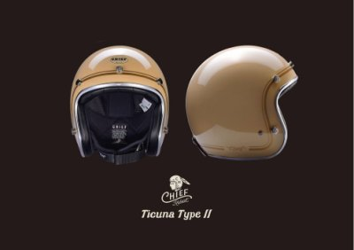 (I LOVE 樂多) Chief Helmet Ticuna系列 3/4 安全帽 (駝色)
