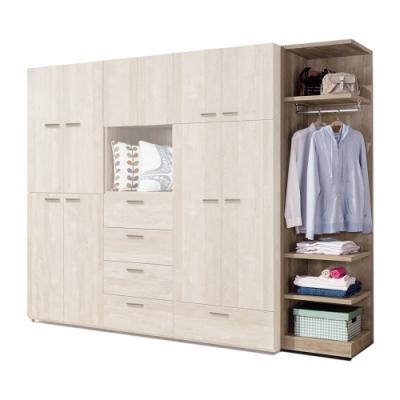 H&D 波隆納1.5尺開放式衣櫥
