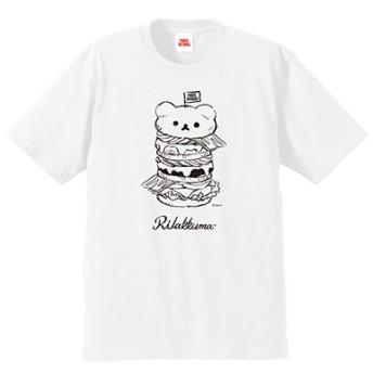 Rilakkuma × TOWER RECORDS コラボT-shirts 2018 ホワイト Mサイズ[MD01-3778]