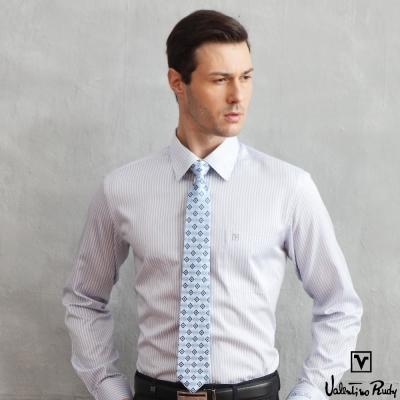 Valentino Rudy 范倫鐵諾.路迪 長袖襯衫 棕藍直條