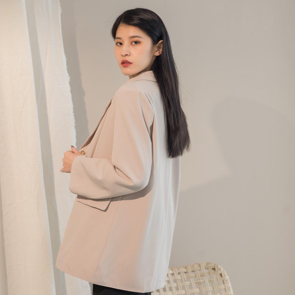 【MiROO】韓系焦糖摩卡西裝外套 (杏/咖)