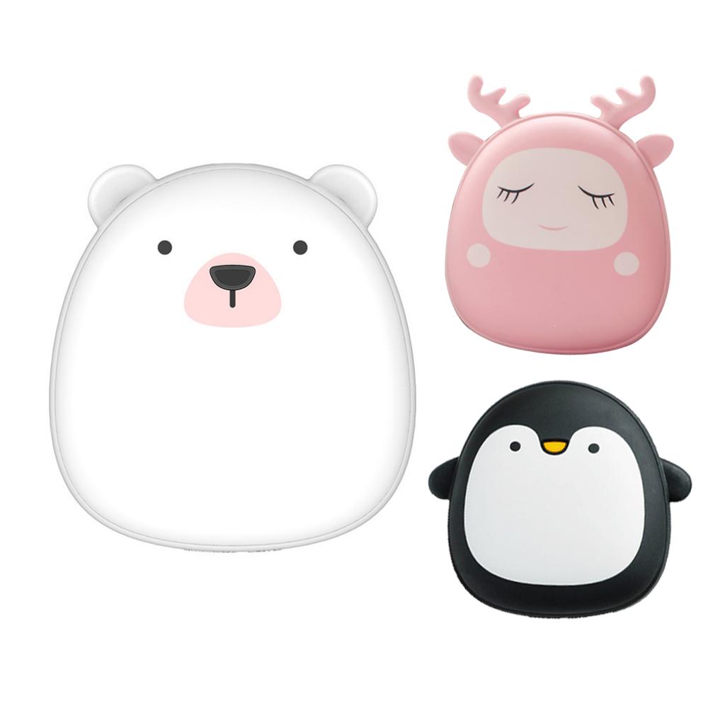 暖手寶 北極熊 企鹅 麋鹿 暖手寶 暖手袋 附收納袋 USB迷你 暖暖包 冬季暖手寶 生日禮物 極地物種情侶充電暖手寶 禮物
