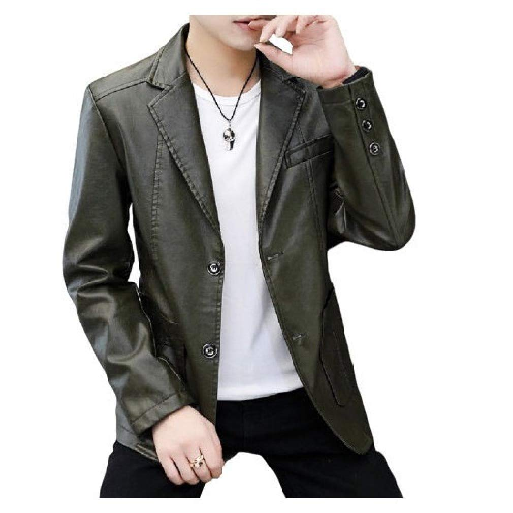 YUNY Mens Long Sleeve Winter Thicken Solid Colored Turn-Down Collar Shirt Brown XS