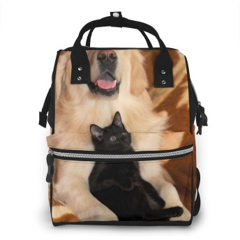 ミイラ袋 犬と猫 (2) バックパック ミイラバッグ 多機能 大容量 ママバッグ マザーズリュック おむつバッグ 旅行用バックパック ギフト
