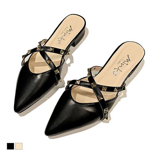 穆勒鞋.個性韓風尖頭包鞋