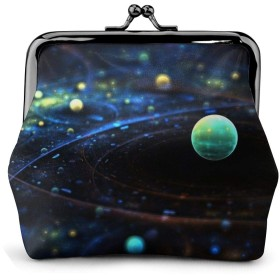 Planetary Galactic Orbits 皮革 財布 小銭入れ 持ち歩きやすい手頃な