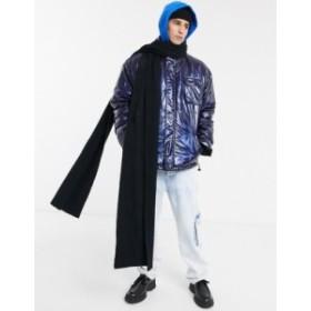 エイソス メンズ マフラー・ストール・スカーフ アクセサリー ASOS DESIGN xxxl knitted scarf in black Black